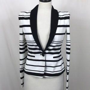 BCBG Max Azria Blazer Stripe XS